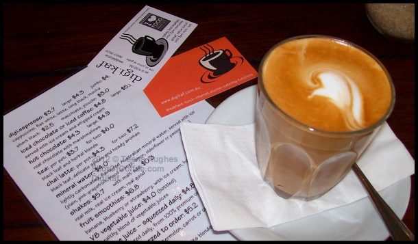 Review of Digikaf - my latte, menu and business cards