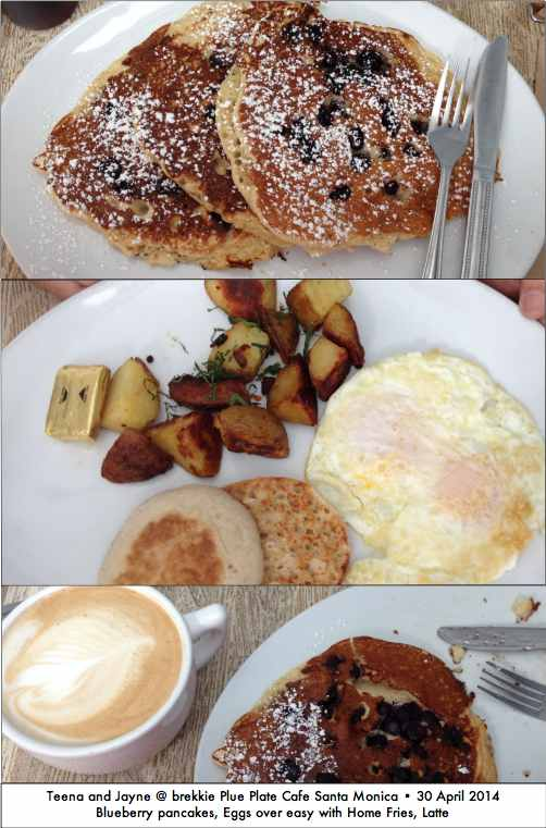 Blue Plate cafe breakfasts in Santa Monica