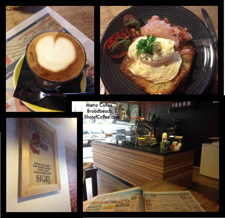 Metro Coffee Broadbeach on Surf Parade