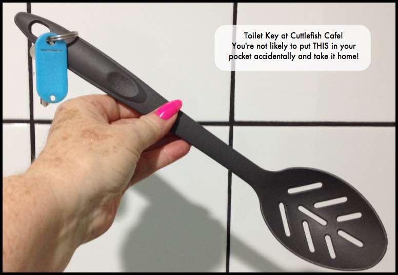 Cuttlefish Cafe toilet key