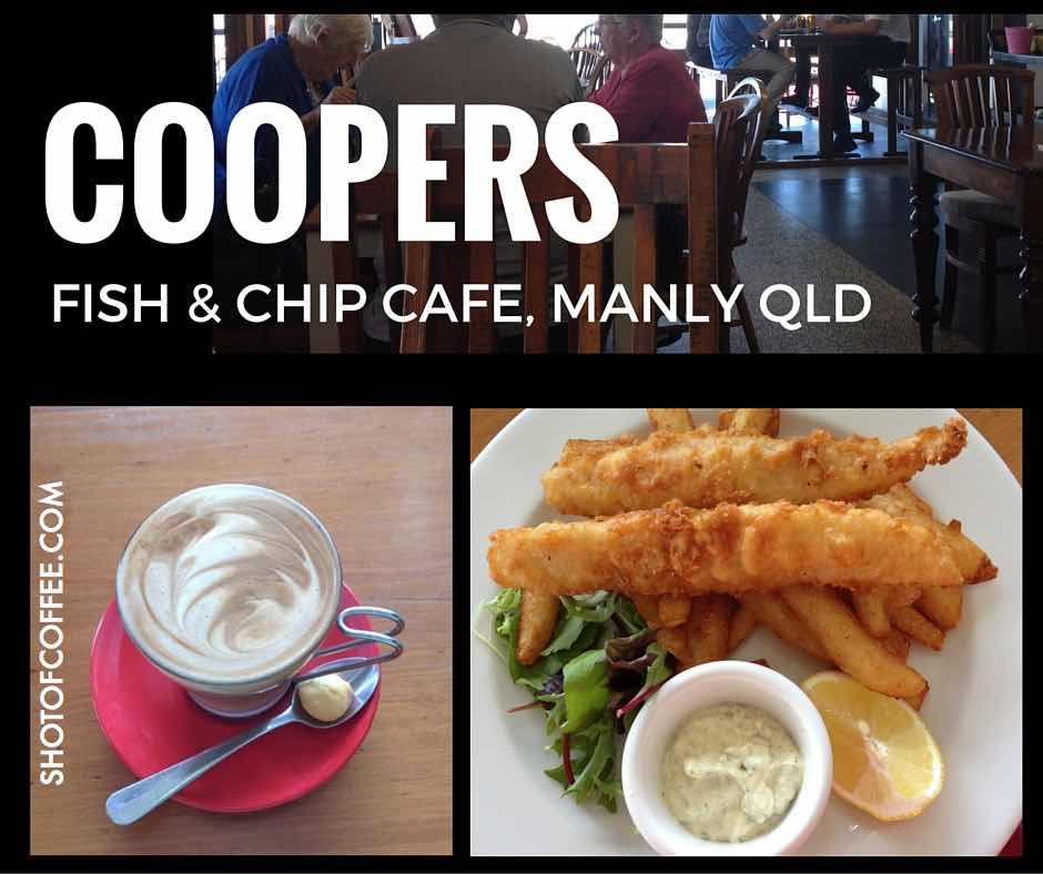 Coopers Fish and Chip Cafe on the Esplanade at Manly, Qld